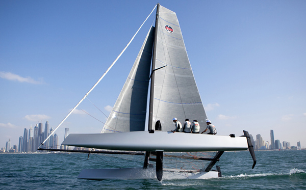 THE GC32 HITS THE WATER | XS Sailing