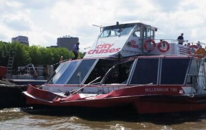 Millennium Time suffered serious damage in the collision
