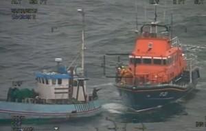 RNLI rescue the Louise Thomsen