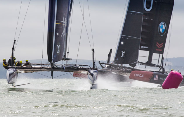 America's Cup World Series training