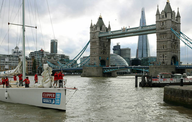 Clipper fleet arriving in London