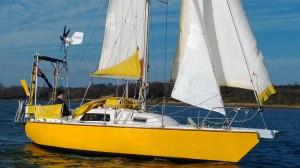 Julian Mustoe sailing Harrier of Down