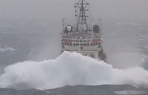 Russian tug Nikolay Chiker in Bay of Biscay