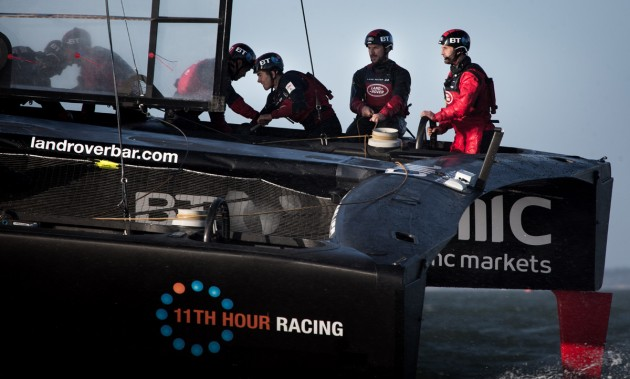 Sir Ben Ainslie's new prototype T2 America's Cup racing yacht